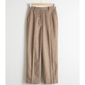 & Other Stories Wool Blend Striped Pants